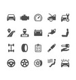 auto service glyph icons vector image