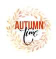 Autumn leaves wreath Watercolor texture Fall vector image vector image