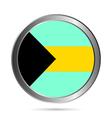 Bahamas flag button vector image