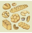 Bakery and pastry products icons set vector image vector image
