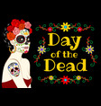 banner for day dead vector image vector image