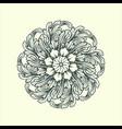 beautiful mandala ornaments design floral green vector image vector image