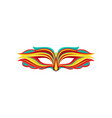 beautiful masquerade mask in flat style attribute vector image
