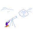 businessman looking binocular business vision vector image