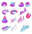 chart business diagram infochart graph vector image