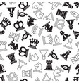 chess symbols pattern vector image vector image