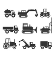 Construction Machinery Icon Symbol Graphics vector image vector image