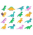 cute dinosaurs hand drawn comic dinosaurs funny vector image