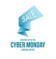 cyber monday sale pointer abstract signpost vector image