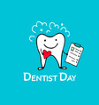 dentist day tooth character sketch for your vector image