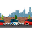 electric car in town city vector image