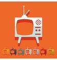 Flat design old tv vector image
