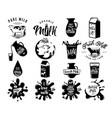 fresh dairy milk logos vector image vector image