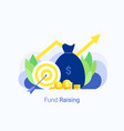 fund rasing money concept vector image vector image