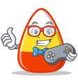 gamer candy corn character cartoon vector image vector image