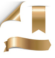 Gold Ribbons Set vector image vector image