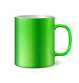 green ceramic mug vector image