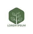 green tree logo design vector image vector image