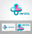 hospital logo vector image
