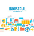 industrial colored decorative icons set vector image vector image