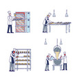 manufacturing process in bakery concept