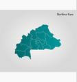 map burkina faso vector image vector image