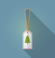 Merry Christmas gift tag flat design vector image