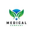 natural health modern logo vector image vector image