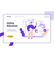 online education web page banner vector image