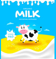 packaging milk product vector image vector image