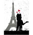 Paris in love vector image