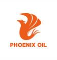 phoenix oil logo vector image vector image