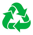 recycling green icon pollution and environmental vector image vector image