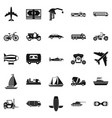 ride icons set simple style vector image