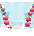 santa claus with gift abstract vector image