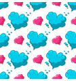 seamless pattern with cloud with heart shape vector image vector image