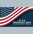 sept 11 patriot day usa flag poster vector image vector image