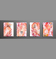 set of creative painted cards hand drawn textures vector image vector image
