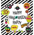 Set of stylish halloween card vector image vector image