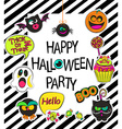 set stylish halloween card vector image