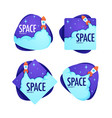 space project collection sci-fi label vector image
