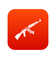 submachine gun icon digital red vector image vector image
