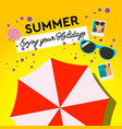 summer holiday and summer camp poster travel vector image