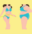 two woman with different body shapes vector image vector image