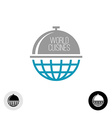 World food logo vector image vector image