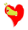 worms eat love parasites pests in hearth vector image