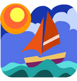 yacht sailing vector image vector image
