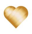 heart of golden stripes love symbol vector image