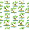 island palm tree seamless texture Summer vector image