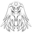 Stylized eagle head emblem vector image